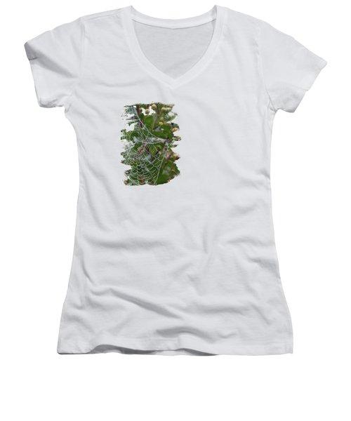 String Of Pearls Women's V-Neck T-Shirt (Junior Cut) by Anita Faye