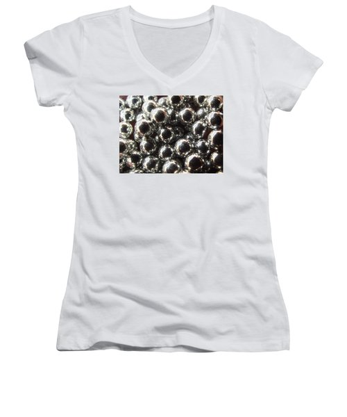 Women's V-Neck featuring the photograph Study Of Bb's, An Abstract. by Shelli Fitzpatrick