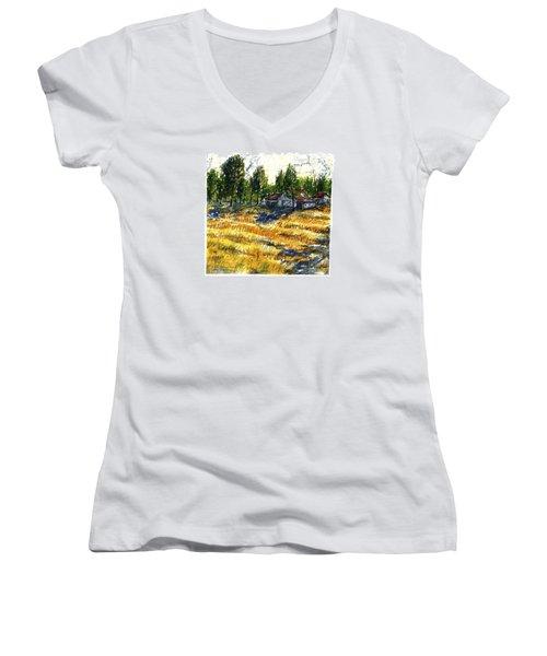 Suber Road Barns Women's V-Neck T-Shirt