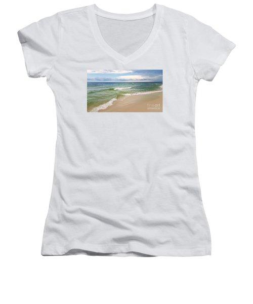 Sublime Seashore  Women's V-Neck T-Shirt (Junior Cut)