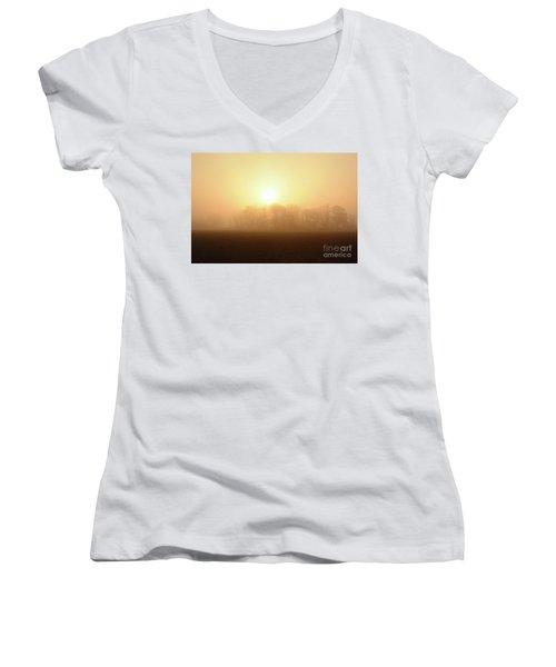Subtle Sunrise Women's V-Neck