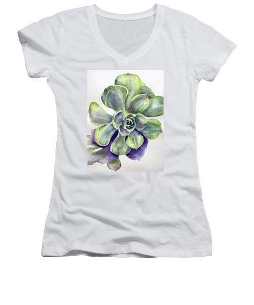 Succulent Plant Women's V-Neck