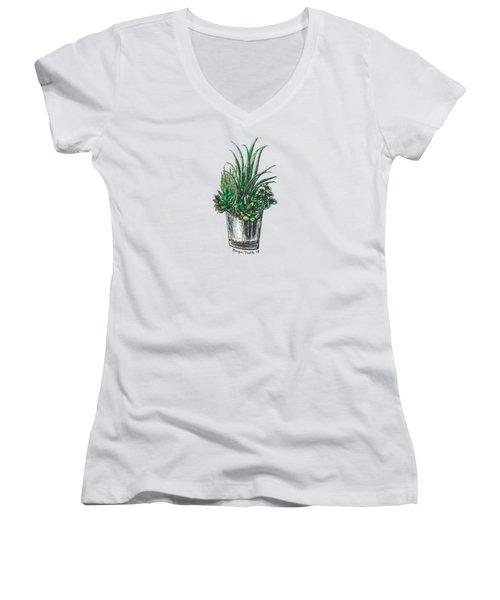 Succulents Women's V-Neck