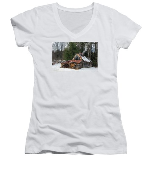 Sugar King's Smokehouse Women's V-Neck (Athletic Fit)