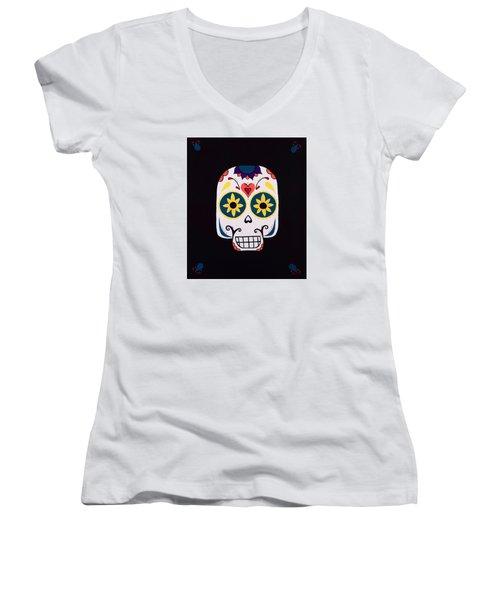 Sugar Skull Women's V-Neck