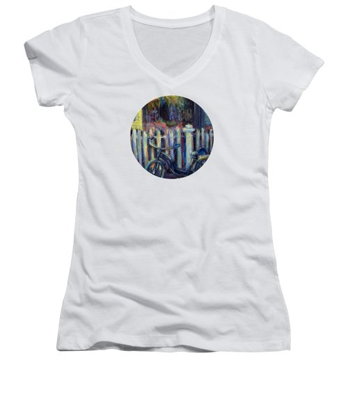 Summer Days Women's V-Neck T-Shirt (Junior Cut) by Mary Wolf