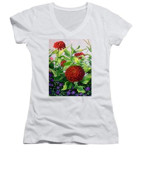 Summer Flowers 3 Women's V-Neck