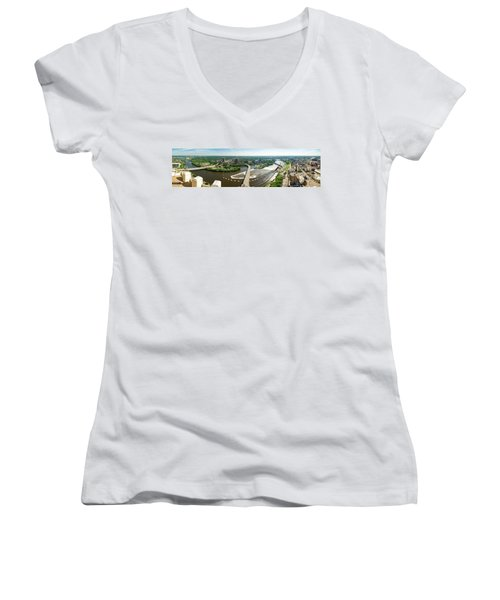 Summer In The Mill City Women's V-Neck T-Shirt