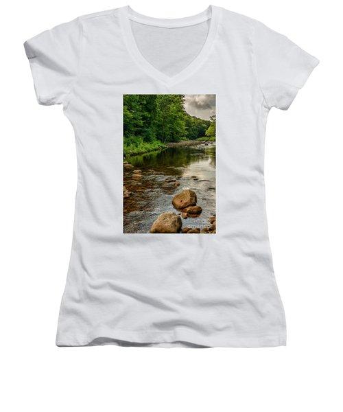 Summer Morning Williams River Women's V-Neck