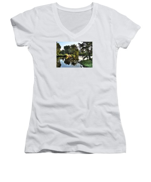 Women's V-Neck T-Shirt (Junior Cut) featuring the photograph Summer Still by Betsy Zimmerli