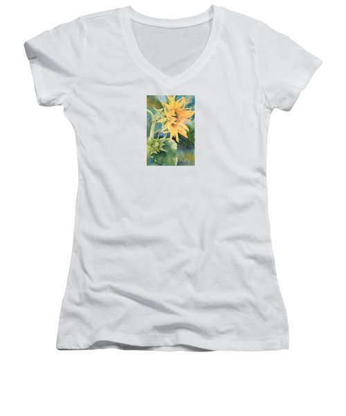 Summer Sunflower Women's V-Neck