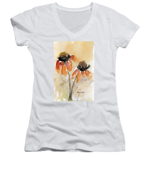 Summer Sunflowers Women's V-Neck T-Shirt