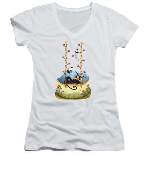 Summer Swing Women's V-Neck T-Shirt