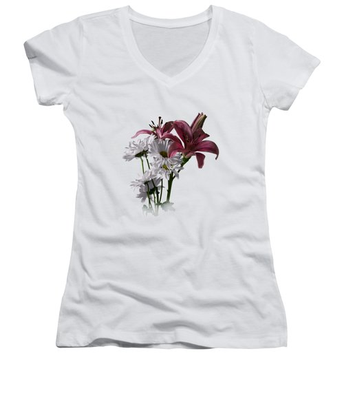 Summer Wild Flowers Clothing Women's V-Neck (Athletic Fit)