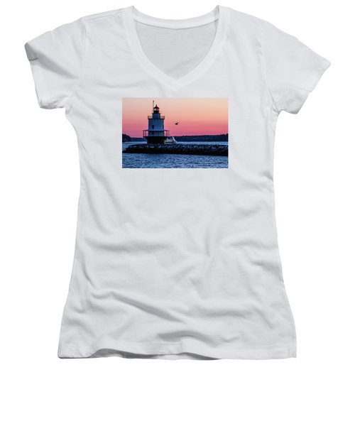 Sun Rise At Spring Point Women's V-Neck