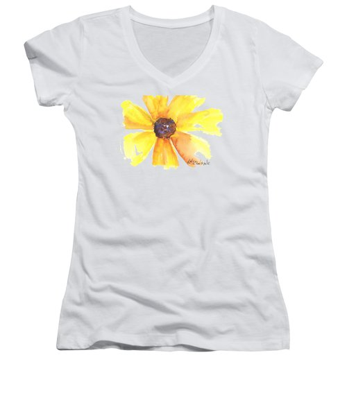 Sunburst Women's V-Neck T-Shirt (Junior Cut) by Kathleen McElwaine