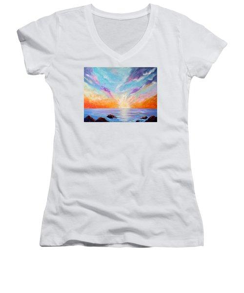 Sunburst Women's V-Neck T-Shirt