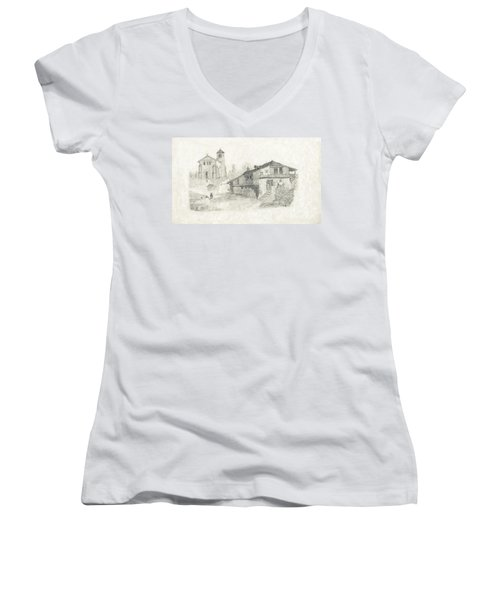 Sunday Service - No Borders Women's V-Neck (Athletic Fit)