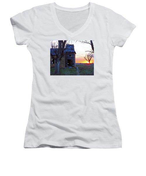 Sundown Church Women's V-Neck T-Shirt