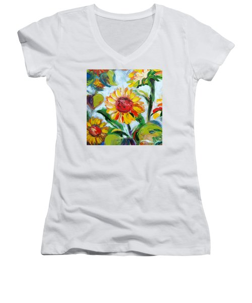 Sunflowers 6 Women's V-Neck