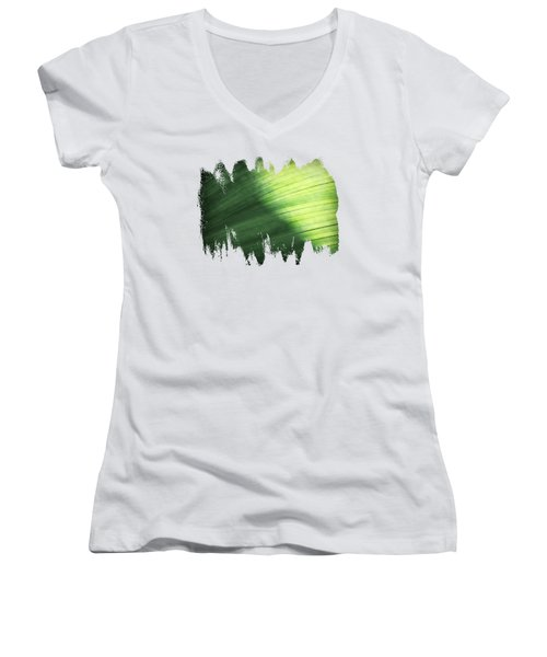 Sunlit Palm Women's V-Neck T-Shirt (Junior Cut) by Anita Faye