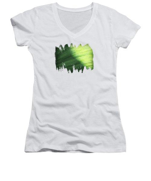 Sunlit Palm Women's V-Neck T-Shirt