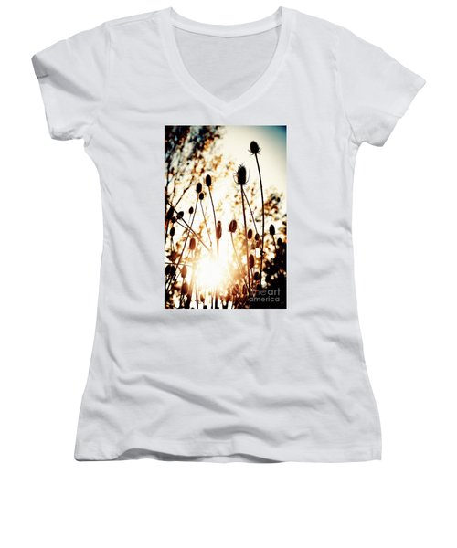 Sunny Afternoon Women's V-Neck (Athletic Fit)