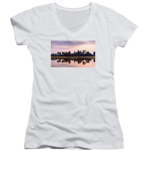Sunrise At Angkor Wat Women's V-Neck T-Shirt