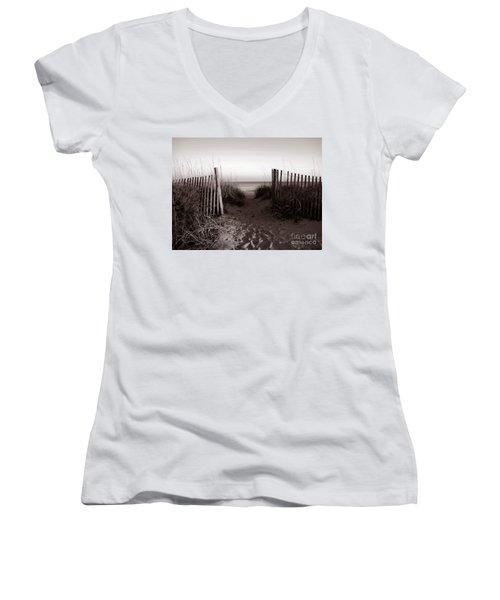 Sunrise At Myrtle Beach Sc Women's V-Neck T-Shirt