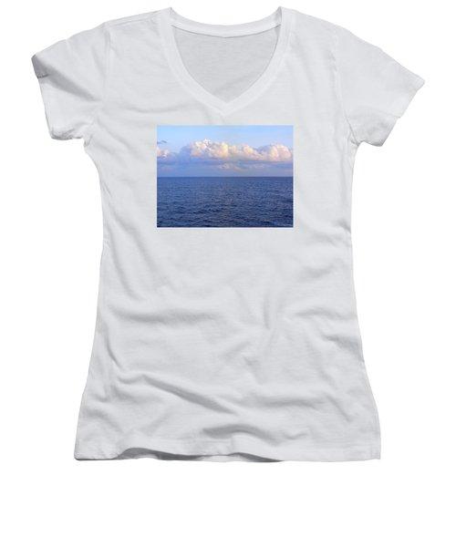 Sunrise From The Atlantic Ocean Women's V-Neck