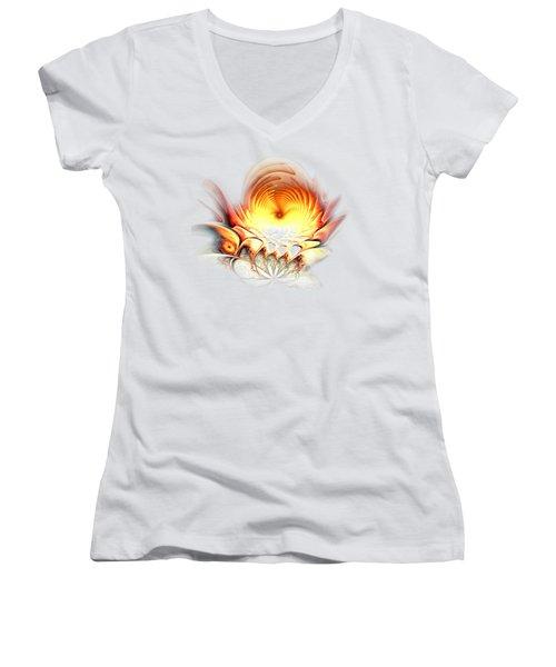 Sunrise In Neverland Women's V-Neck T-Shirt (Junior Cut) by Anastasiya Malakhova