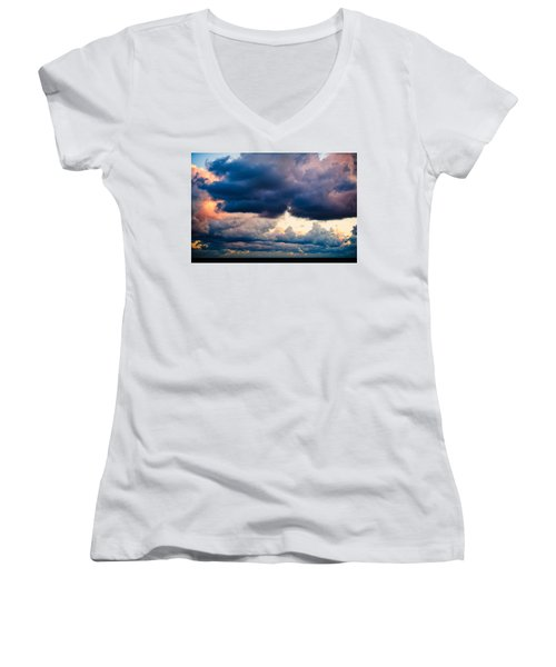 Sunrise On The Atlantic #11 Women's V-Neck (Athletic Fit)