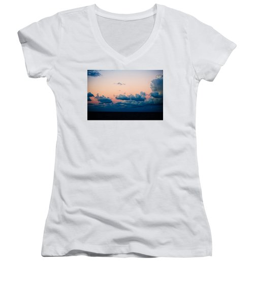 Sunrise On The Atlantic #2 Women's V-Neck (Athletic Fit)