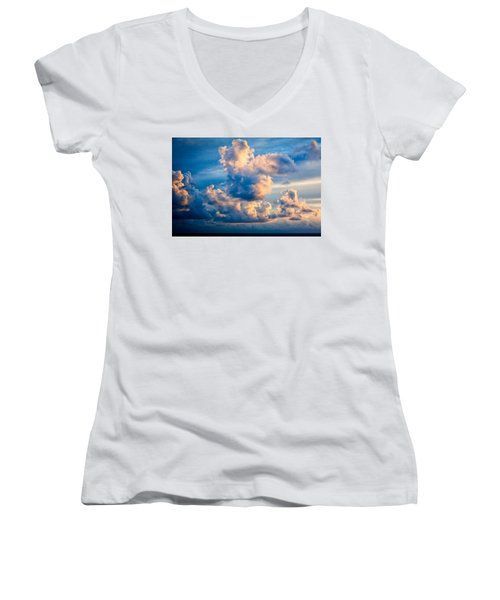 Sunrise On The Atlantic #31 Women's V-Neck (Athletic Fit)