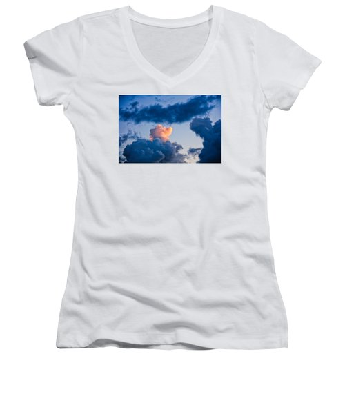 Sunrise On The Atlantic #6 Women's V-Neck (Athletic Fit)