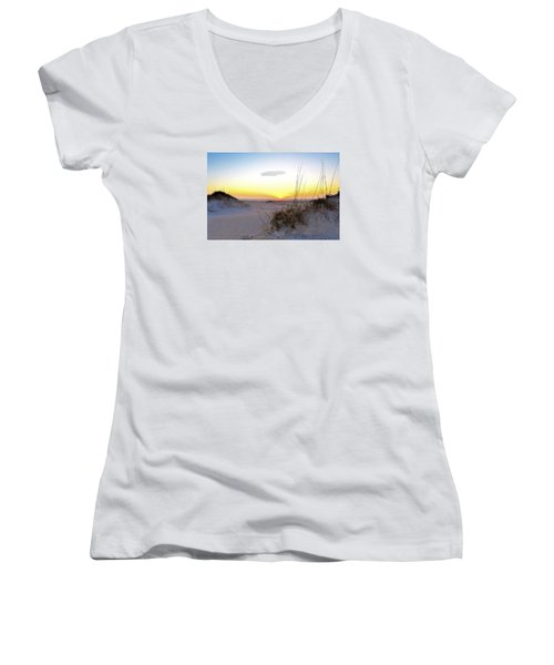 Sunrise Over Pea Island Women's V-Neck T-Shirt