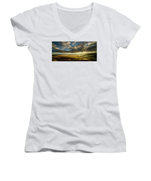 Sunrise Over The Heber Valley Women's V-Neck T-Shirt