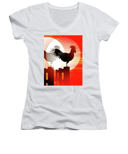 Sunrise Reflection Women's V-Neck