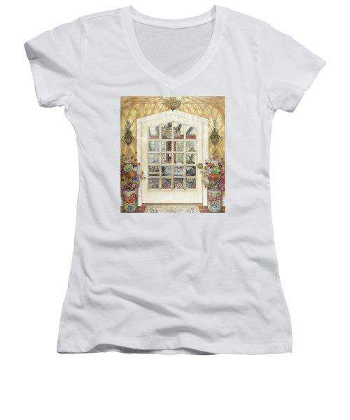 Sunroom Entrance Women's V-Neck T-Shirt
