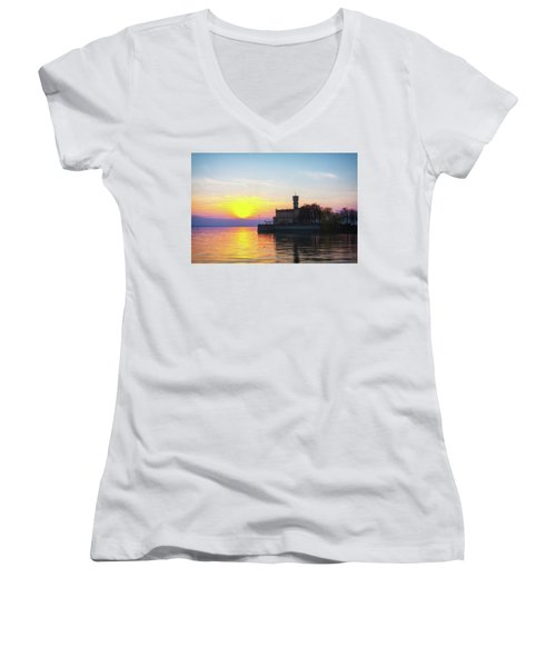 Sunset Colors Women's V-Neck