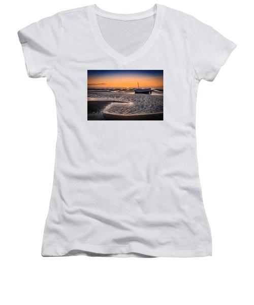 Sunset, Meols Beach Women's V-Neck