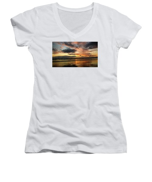 Sunset Split Women's V-Neck