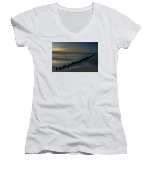 Sunset Zen Mood Seascape Women's V-Neck