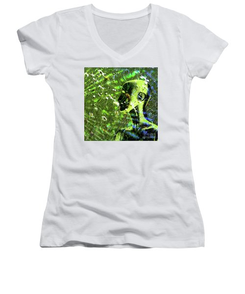 Women's V-Neck T-Shirt featuring the photograph Sunshine And Daisies by LemonArt Photography