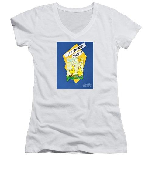 Sunshine Daze Women's V-Neck T-Shirt