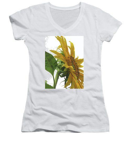 Sunshine In The Garden 25 Women's V-Neck (Athletic Fit)