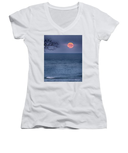 Super Moon Waning Women's V-Neck (Athletic Fit)