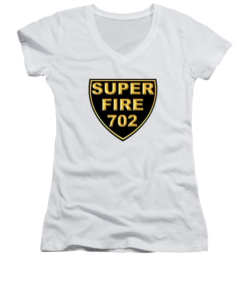Superfire 702 Women's V-Neck (Athletic Fit)