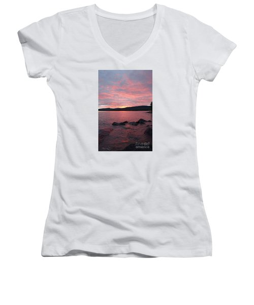 Women's V-Neck T-Shirt (Junior Cut) featuring the photograph Superior Delight by Sandra Updyke