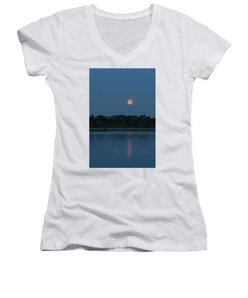 Supermoon Dawn 2013 #2 Women's V-Neck